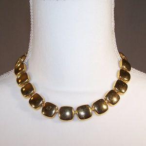 Vintage Napier gold tone square necklace